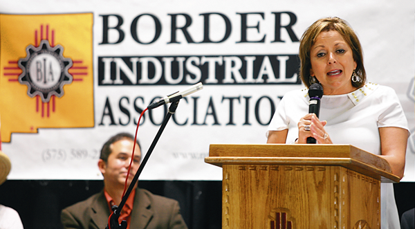 IBA Helps Coordinate Governor Susana Martinez's Visit to Santa Teresa